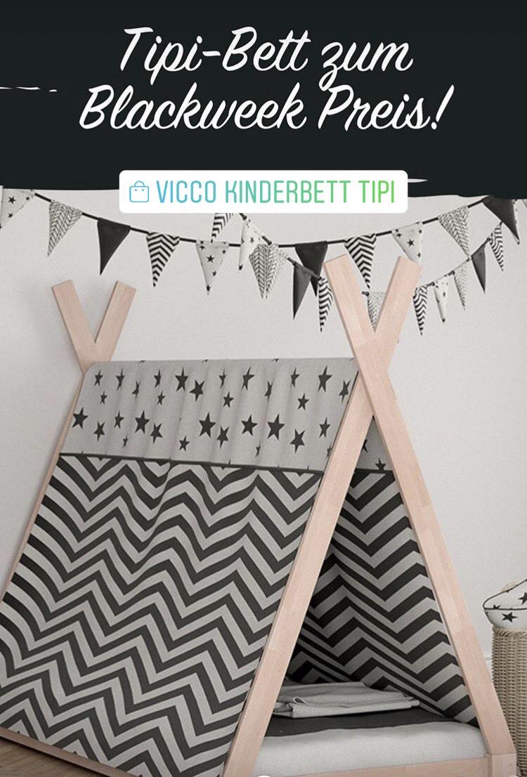 Vicco Kinderbett Tipi Kinderhaus Indianer Zelt Kinder Bett Holz Haus
