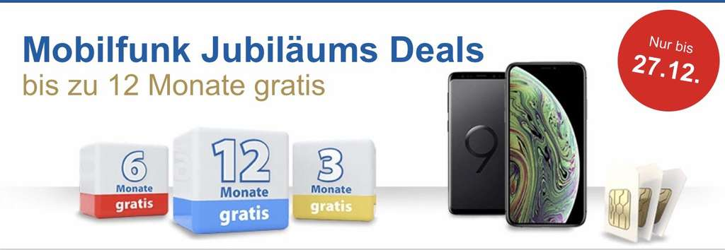 mobilfunk jubil ums deals bis 12 monate gratis. Black Bedroom Furniture Sets. Home Design Ideas