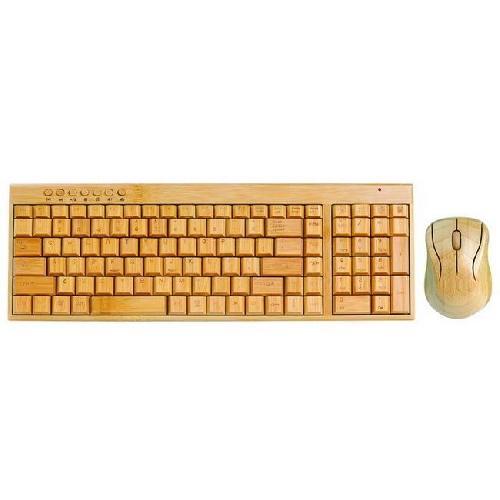 bambus tastatur und maus schnurlos kostenlose lieferung. Black Bedroom Furniture Sets. Home Design Ideas