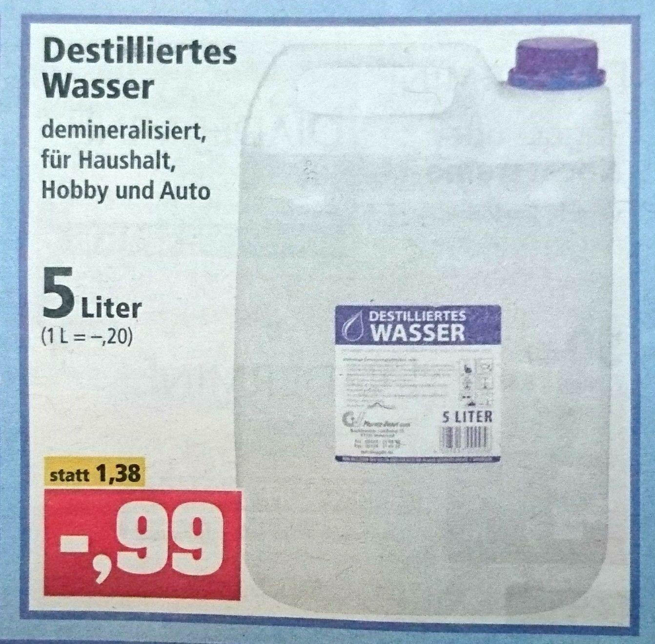 5 Liter Destilliertes Wasser Fur 0 99 Bei Thomas Philipps Mydealz De
