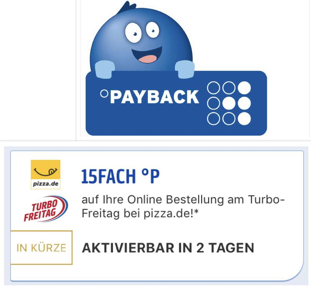 15 fach payback coupon f r in der payback app am turbo freitag. Black Bedroom Furniture Sets. Home Design Ideas
