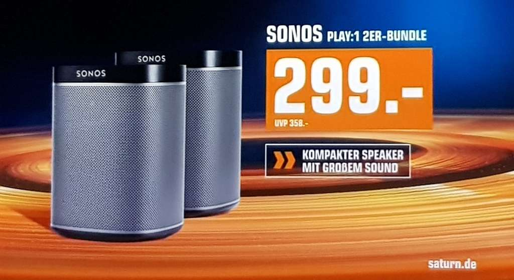 sonos play 1 2er bundle bei saturn multiroom speaker