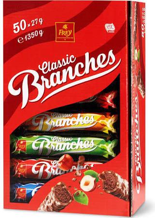 Schweizer Schokolade Branches Classic 50er Schachtel 135 Kg