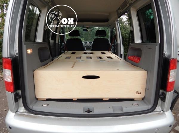 biberbox campingbox f r vw caddy co. Black Bedroom Furniture Sets. Home Design Ideas