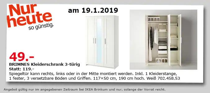 Ikea Lokal Bremen Brinkum Brimnes Kleiderschrank 3 Türig Für 49