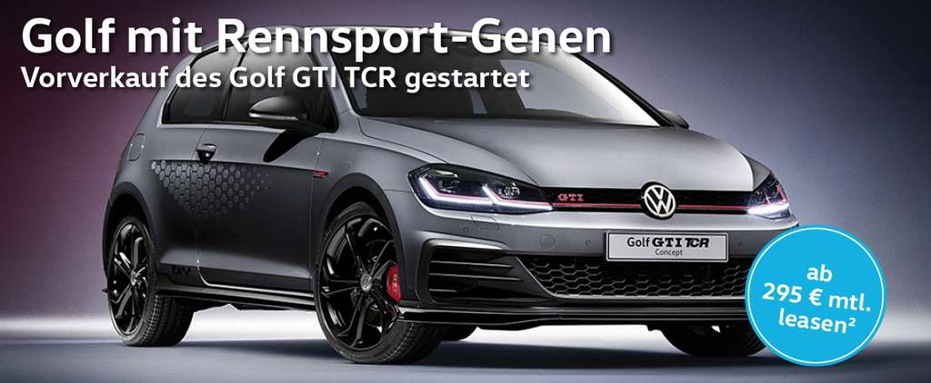 privat gewerbe vw golf vii gti tcr 7 gang dsg leasing. Black Bedroom Furniture Sets. Home Design Ideas