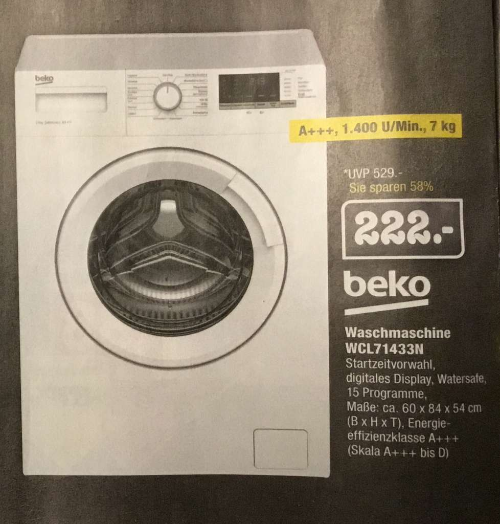Lokal Edeka E Center Kuppenheim Beko Waschmaschine Wcl71433n 7kg