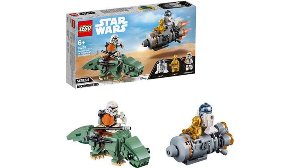 lego star wars 75228 escape pod vs dewback. Black Bedroom Furniture Sets. Home Design Ideas