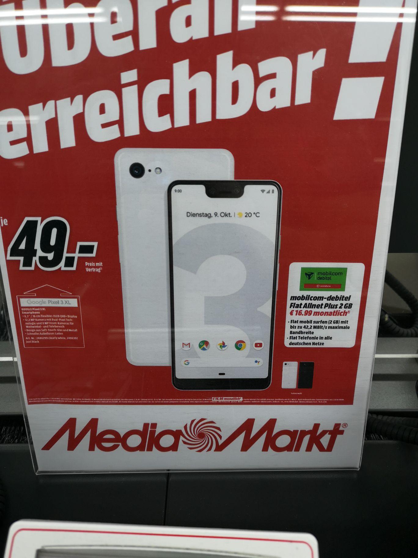 Google pixel 3 xl lokal media markt k ln kalk for Media markt koln marsdorf