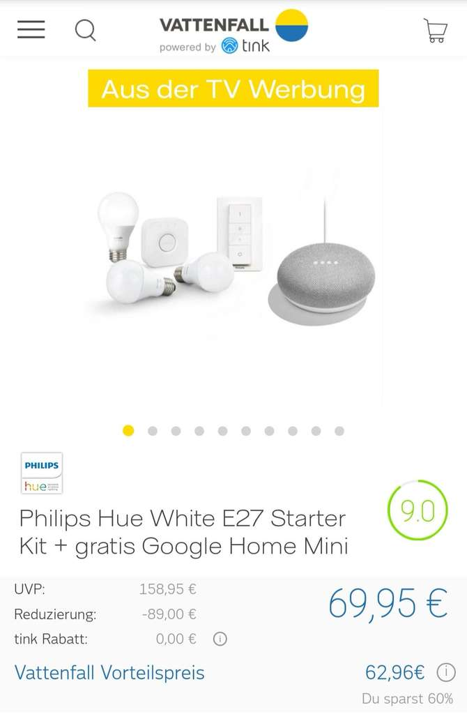ausverkauft philips hue white e27 starter kit google. Black Bedroom Furniture Sets. Home Design Ideas