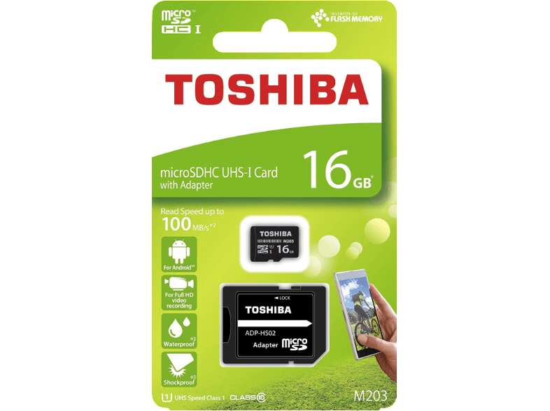 toshiba m203 micro sd sdhc karte 16 gb mediamarkt mit. Black Bedroom Furniture Sets. Home Design Ideas