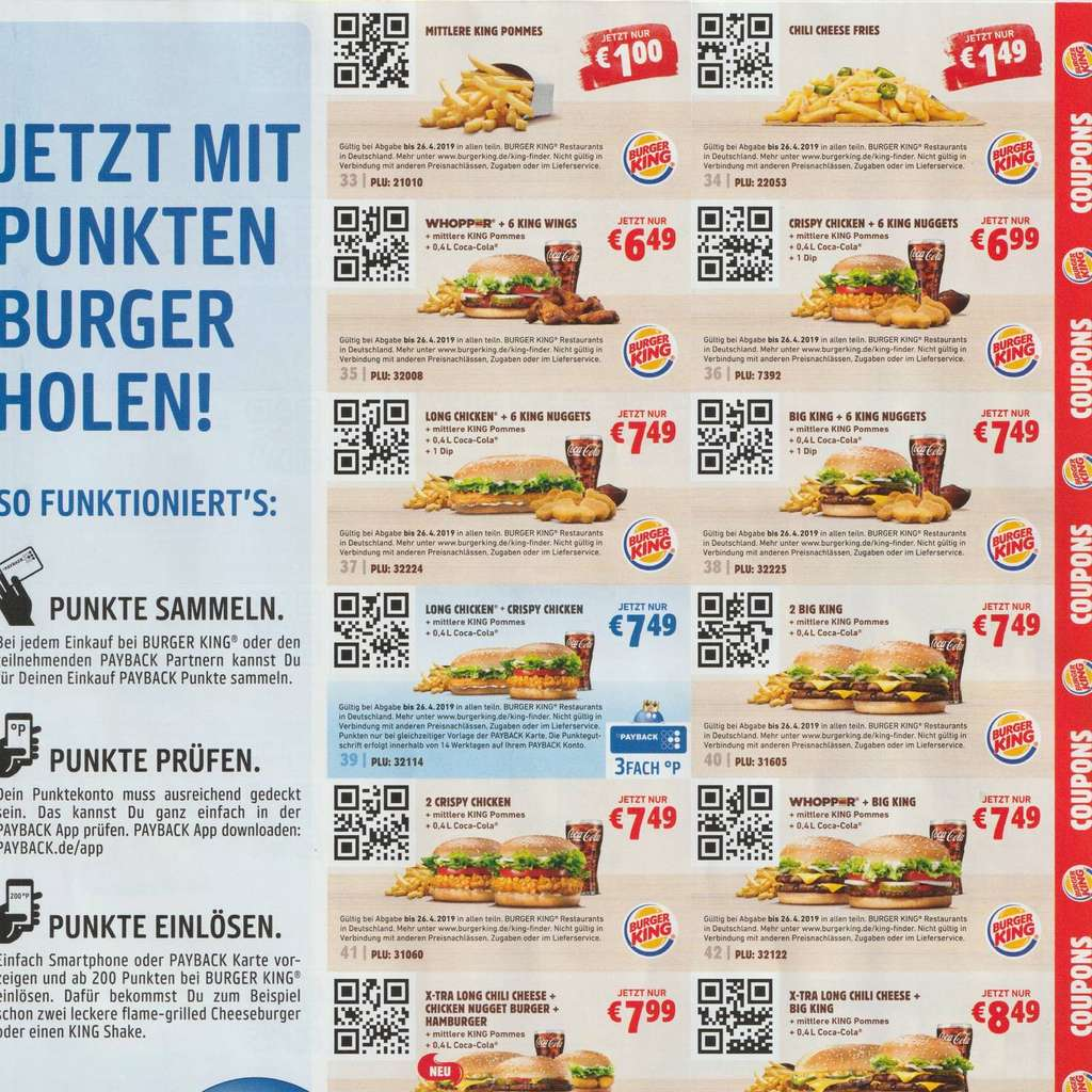 Burger King Gutscheine Handy