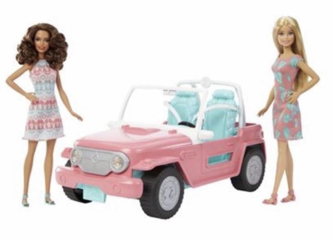 barbie strand cruiser auto mit zwei puppen fpr59. Black Bedroom Furniture Sets. Home Design Ideas
