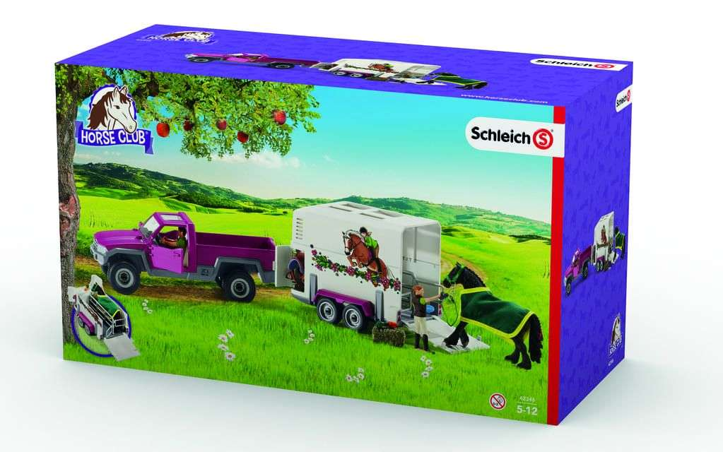schleich pick up mit pferdeanh nger real onlineshop. Black Bedroom Furniture Sets. Home Design Ideas