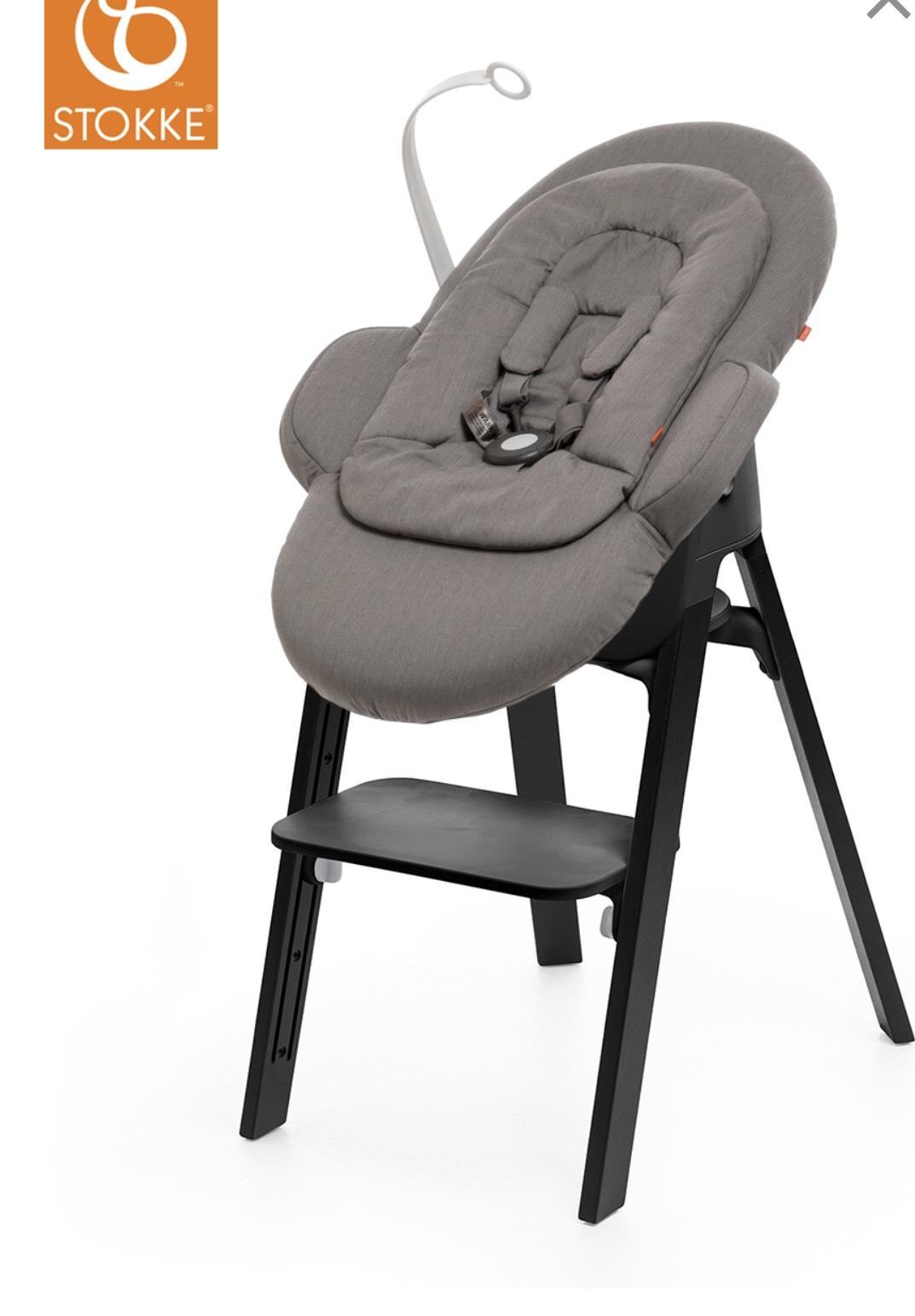 stokke steps hochstuhl schwarz eiche inkl newborn set. Black Bedroom Furniture Sets. Home Design Ideas