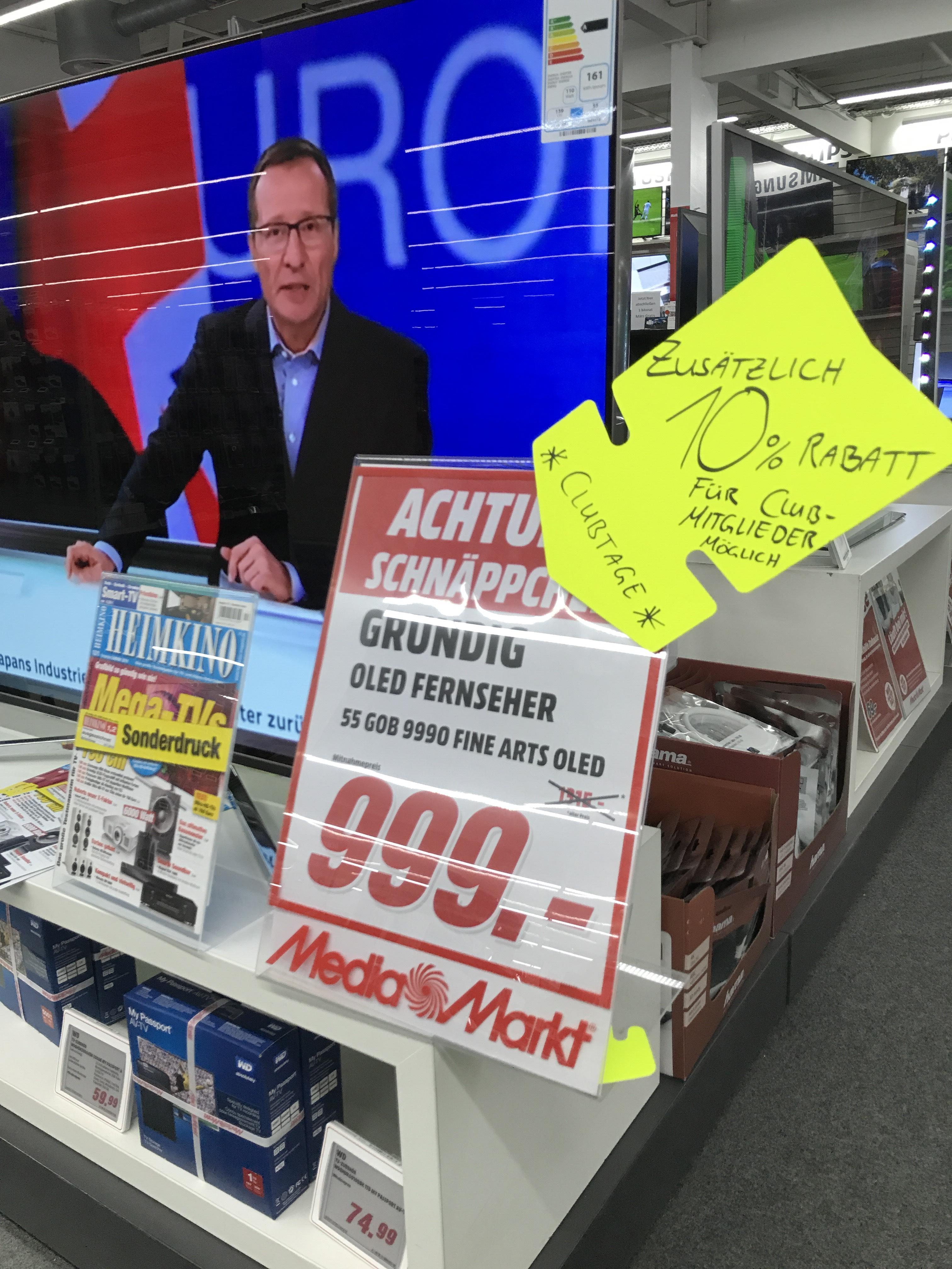 Lokal grundig 55 zoll oled 55 gob 9990 im media markt for Media markt koln marsdorf