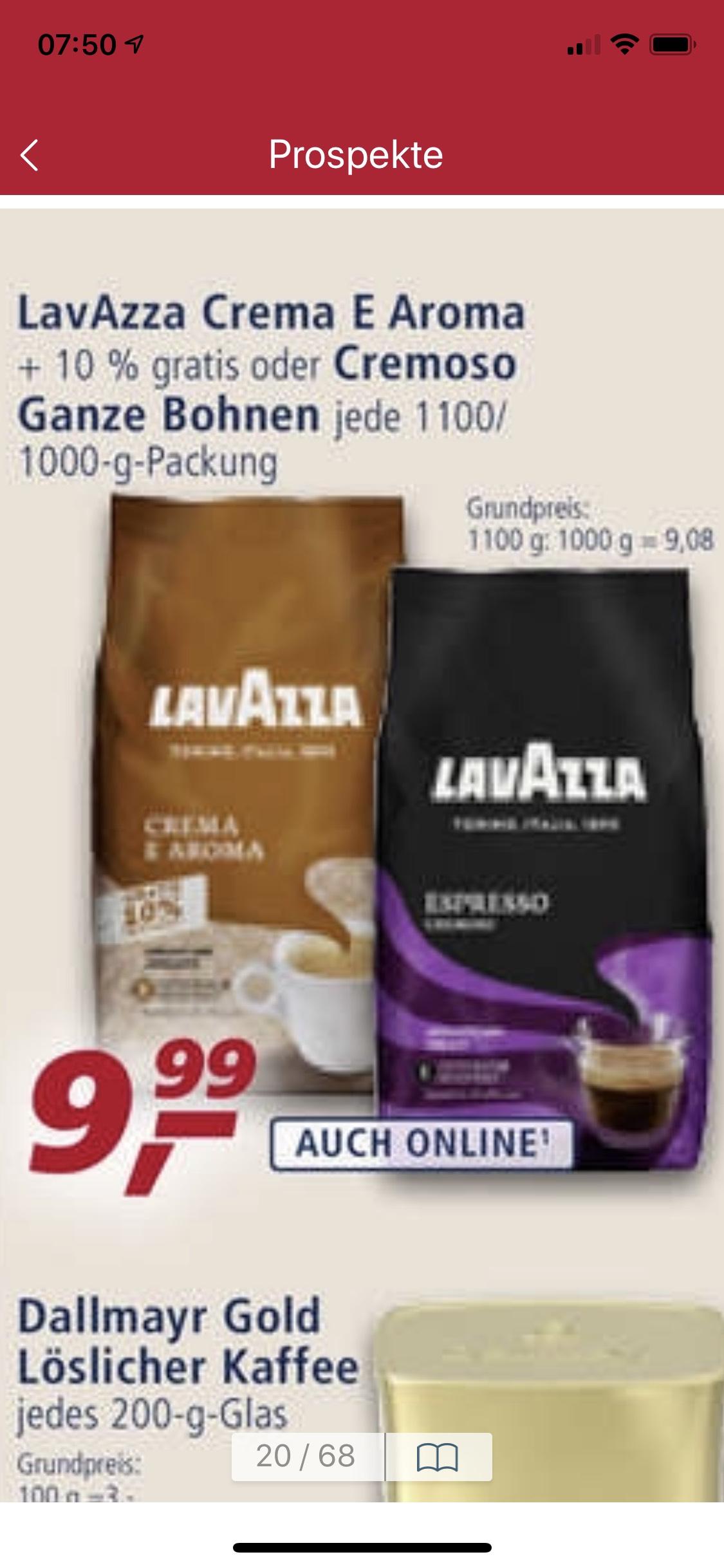 lavazza espresso cremoso 1kg oder crema e aroma 1 1kg. Black Bedroom Furniture Sets. Home Design Ideas