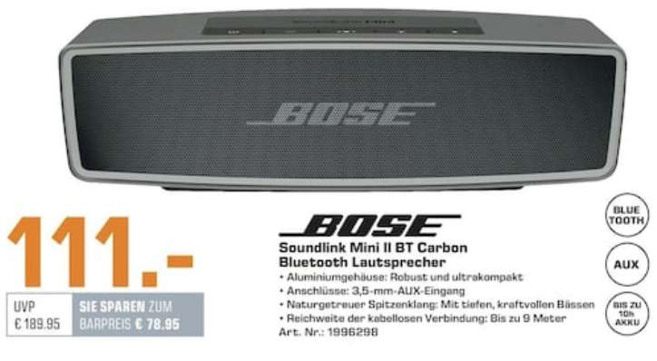 lokal saturn bremen bose soundlink mini ii. Black Bedroom Furniture Sets. Home Design Ideas