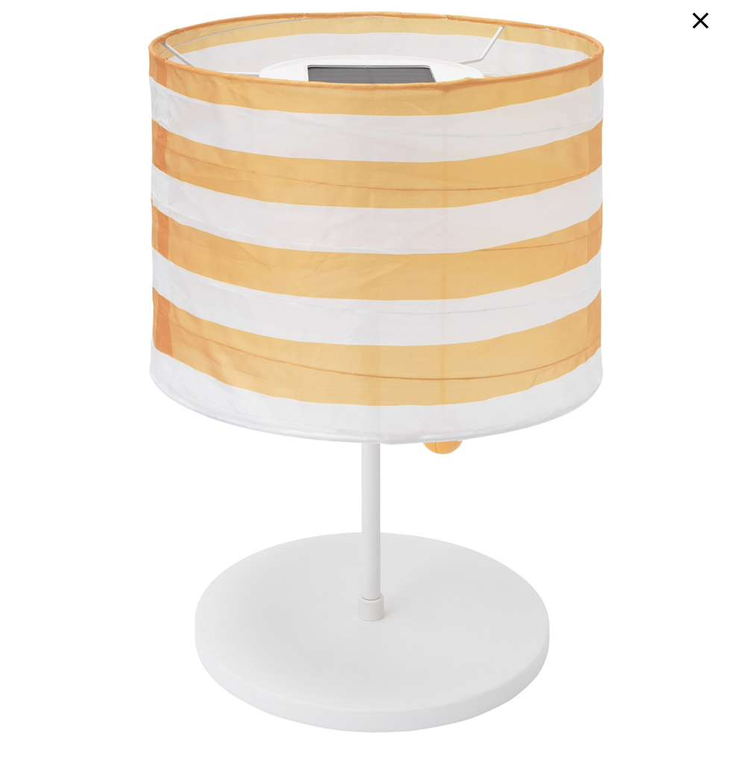 ikea berlin spandau solvinden solartischleuchte led f r drau en gestreift gelb wei. Black Bedroom Furniture Sets. Home Design Ideas