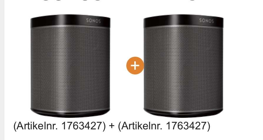 sonos play 1 doppelpack bei saturn 299. Black Bedroom Furniture Sets. Home Design Ideas