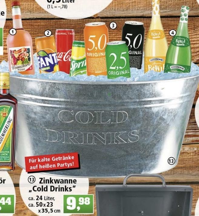 """Zinkwanne """"Cold Drinks"""" 24 Liter 9,98€ bei [Thomas ..."""
