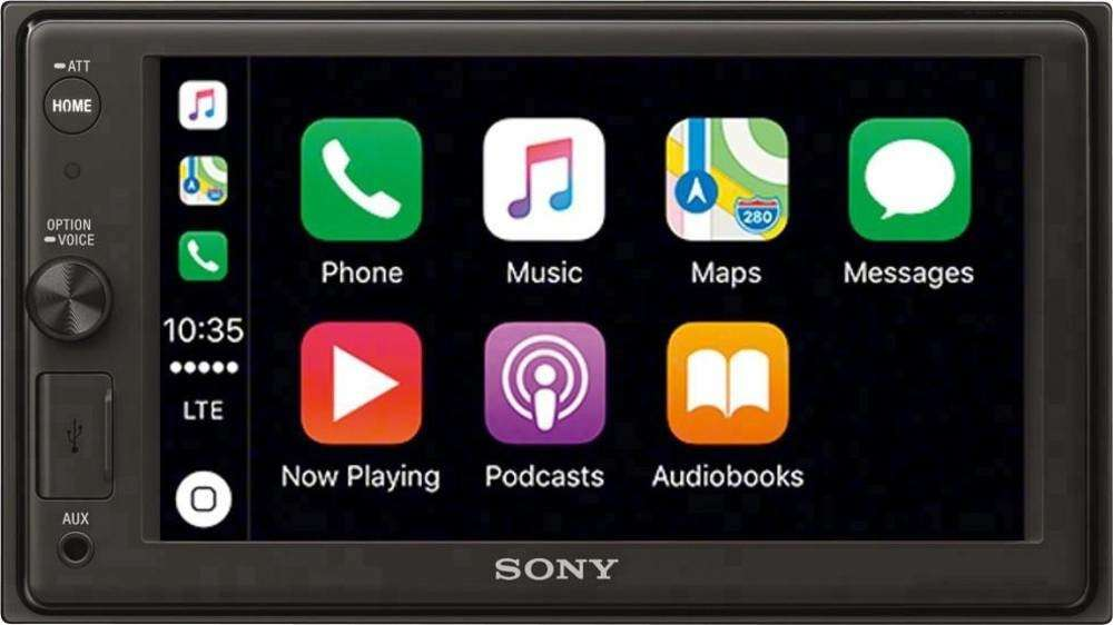 sony xav ax1000 autoradio mit apple carplay 6 2. Black Bedroom Furniture Sets. Home Design Ideas