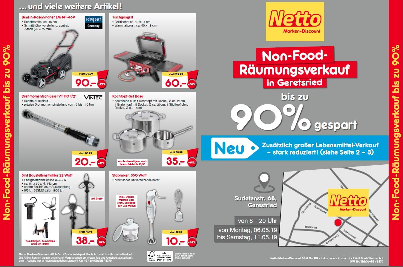 Netto Nonfood Räumungsverkauf