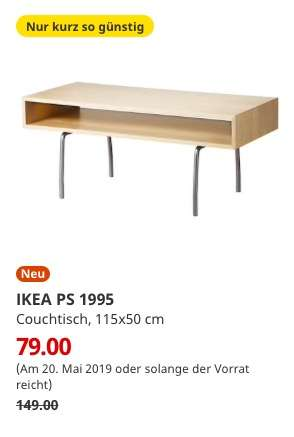 ikea bremerhaven am ikea ps 1995 couchtisch birke. Black Bedroom Furniture Sets. Home Design Ideas