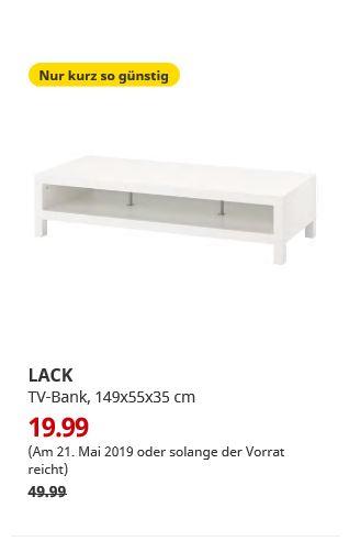 ikea bremerhaven nur am lack tv bank wei. Black Bedroom Furniture Sets. Home Design Ideas