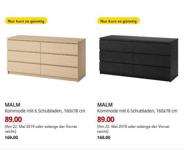 ikea bremerhaven malm kommode mit 6 schubladen. Black Bedroom Furniture Sets. Home Design Ideas