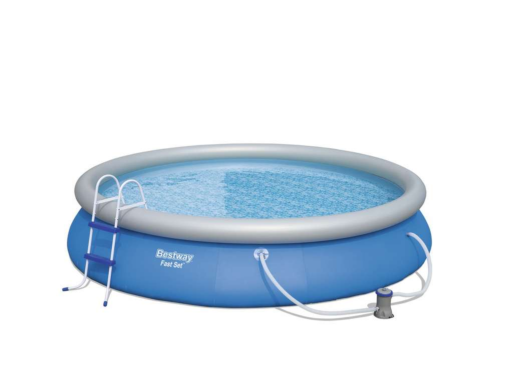 Pool bestway fast set 457 x 84 cm viele obi m rkte for Bestway pool obi