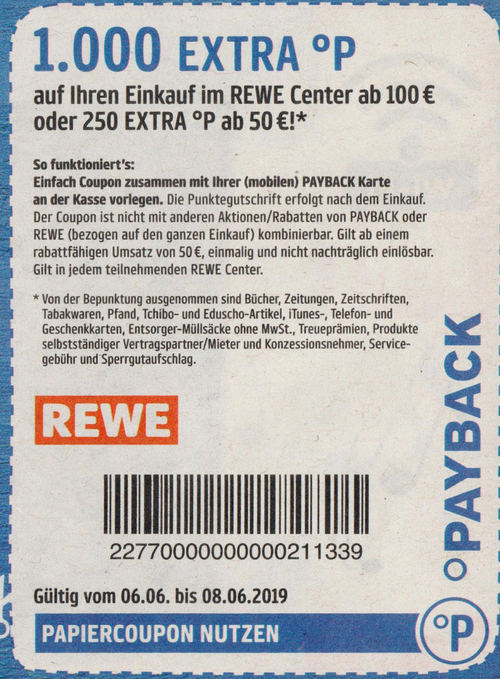 WWW.PAYBACK.DE/REWE 1000