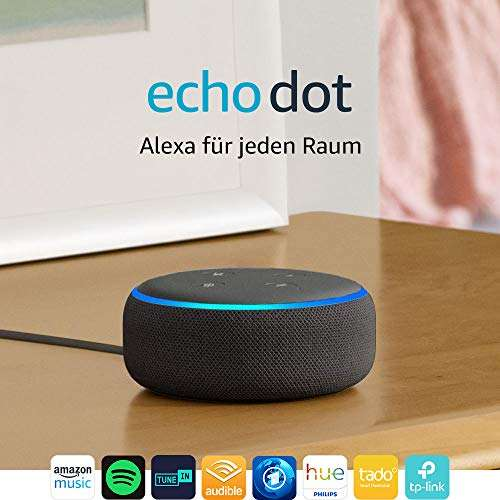echo dot 3 gen intelligenter lautsprecher mit alexa. Black Bedroom Furniture Sets. Home Design Ideas