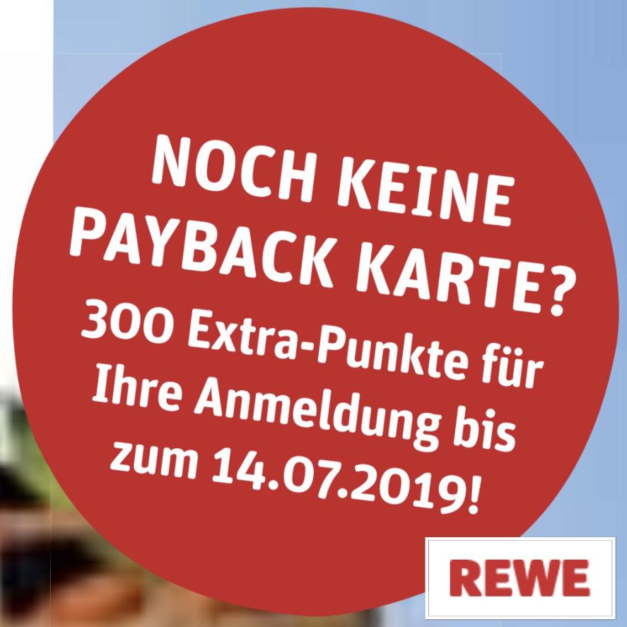 Payback Karte Anmelden.300 Extra Punkte Bei Rewe Fur Payback Anmeldung Weitere