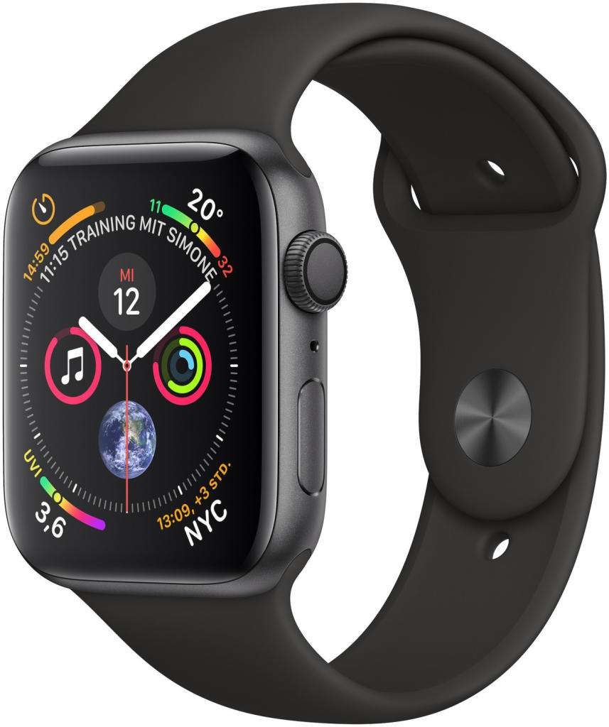 apple watch series 4 gps 44mm aluminiumgeh use space grau. Black Bedroom Furniture Sets. Home Design Ideas