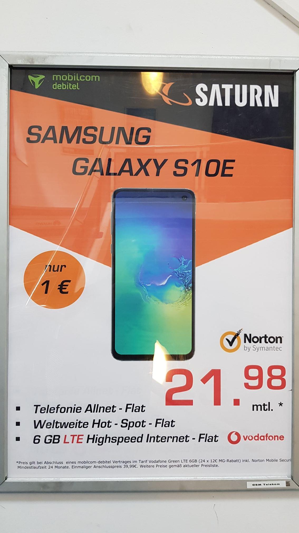 samsung galaxy s10e mit mobilcom debitel vodafone 6gb lte. Black Bedroom Furniture Sets. Home Design Ideas