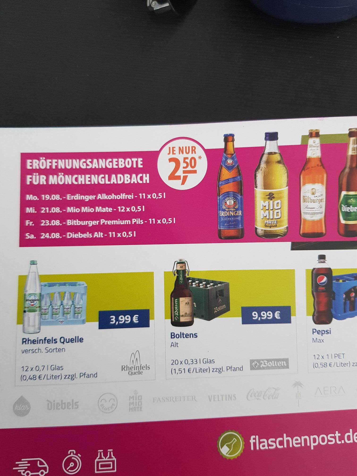 Flaschenpost Mönchengladbach Viersen Und Willich Mydealzde