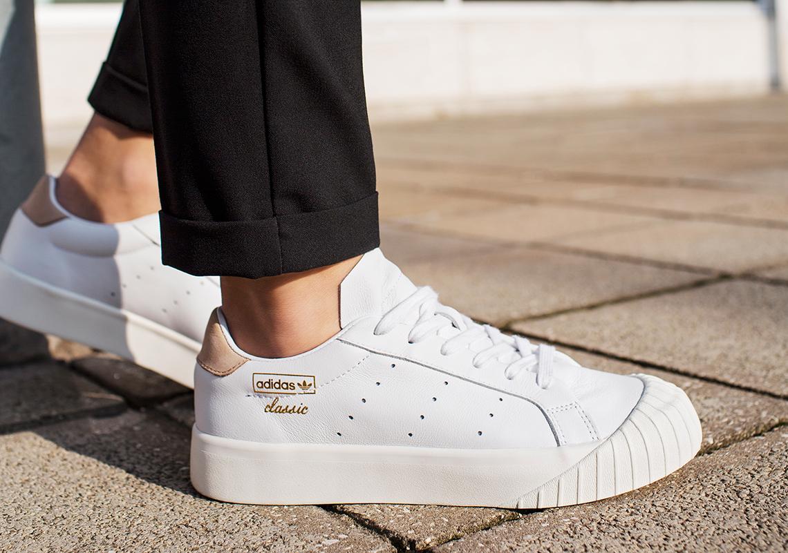 heiß adidas Originals Damen Everyn Sneakers Weiß (Gr. 36 40  Schlussverkauf