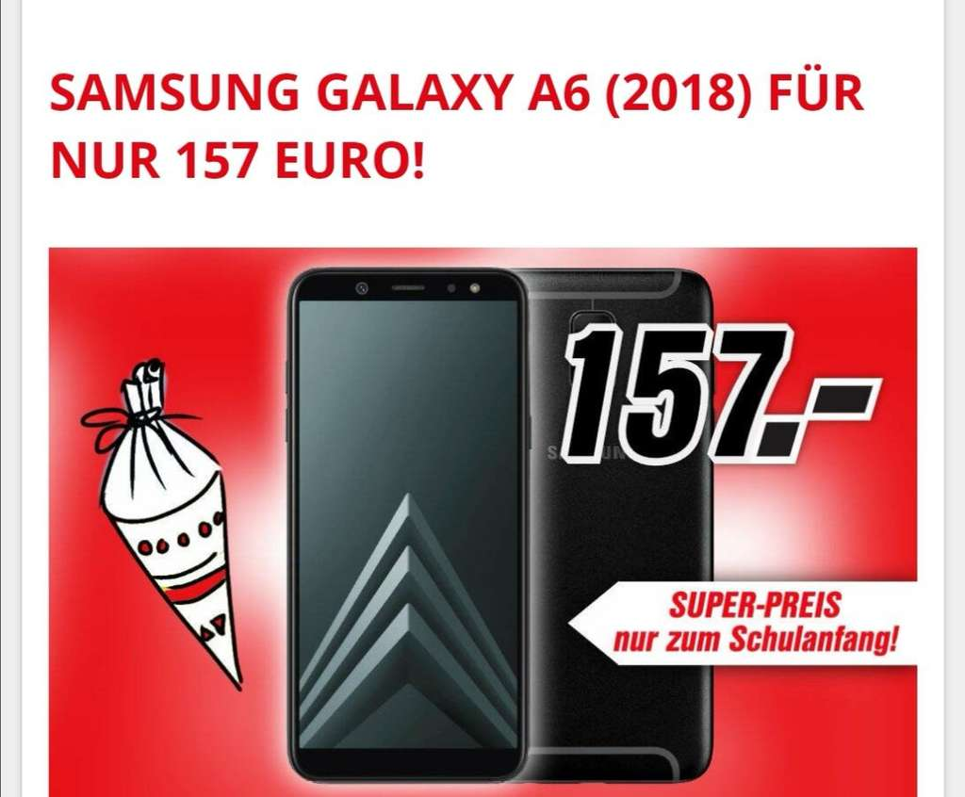 lokal media markt leipzig samsung galaxy a6 2018 32gb schwarz dual sim smartphone f r 157