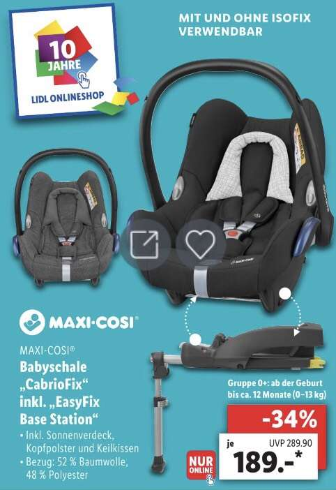 maxi cosi babyschale cabriofix easyfix base station bei. Black Bedroom Furniture Sets. Home Design Ideas
