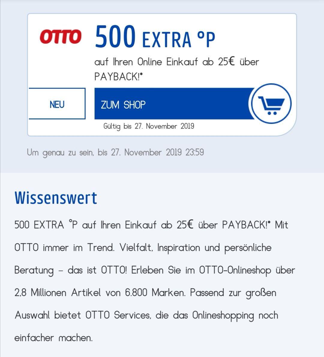 [Personalisiert!] 500 Payback-Bonuspunkte (-5€) ab 25€ MBW ...