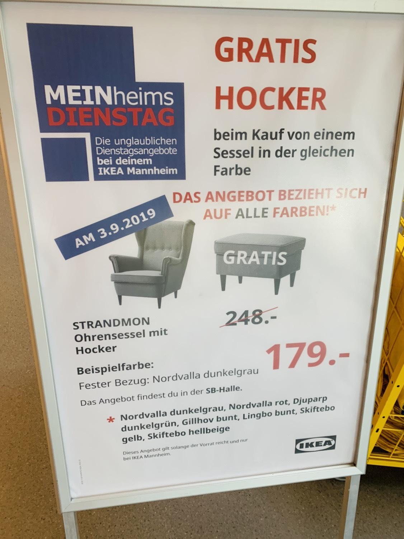 lokal ikea mannheim strandmon ohrensessel gratis. Black Bedroom Furniture Sets. Home Design Ideas