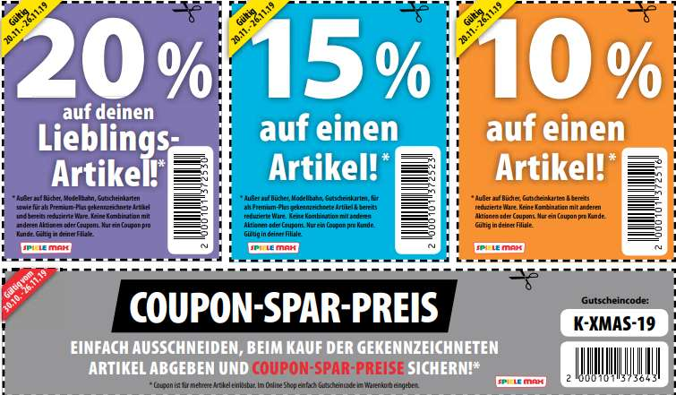 Coupon Spiele Max