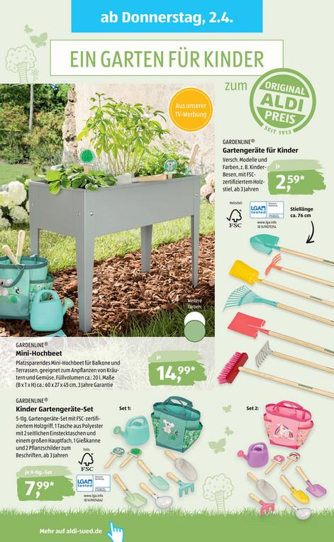 Diverse Gartenbeschaftigungsartikel Fur Kinder Z B Mini Hochbeet Gartengerate Etc Aldi Sud Mydealz De