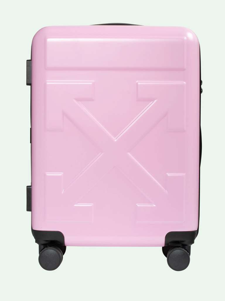 """Off-White """"For Travel"""" Koffer - PINK QUOTE LUGGAGE ..."""