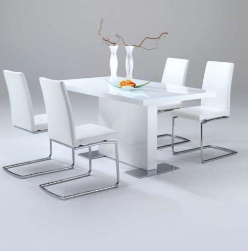steinhoff esstisch lorenzo 90x160 hochglanz weiss. Black Bedroom Furniture Sets. Home Design Ideas
