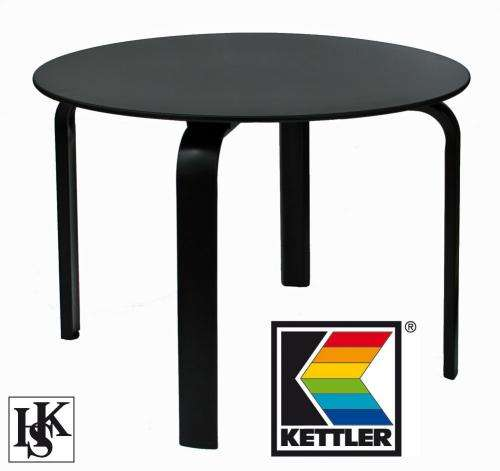ebay kettler gartentisch lofttisch rundtisch tisch 100 cm rund in schwarz zum preis. Black Bedroom Furniture Sets. Home Design Ideas