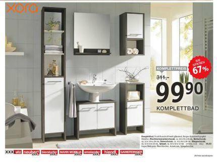 lokal dreieich xora komplettbad bei mann mobilia xxl. Black Bedroom Furniture Sets. Home Design Ideas