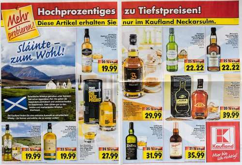 lokal wieder mal scotch whisky angebote kaufland neckarsulm. Black Bedroom Furniture Sets. Home Design Ideas