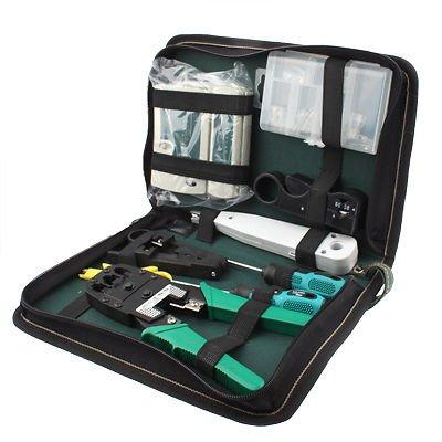 9 in 1 profi netzwerk werkzeug set netzwerktester crimpzange auflegewerkzeug. Black Bedroom Furniture Sets. Home Design Ideas